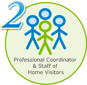2: Professional coordinator and staff of home visitors