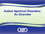Autism Spectrum Disorders: An overview. Cover Image