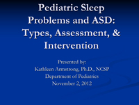 Pediatric Sleep Problems, cover