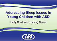 Sleep Issues for Individuals with ASD, cover
